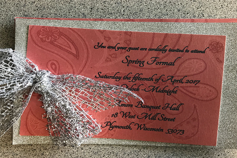 Invite Only-The Spring formal invite serves as an entrance ticket into the dance.