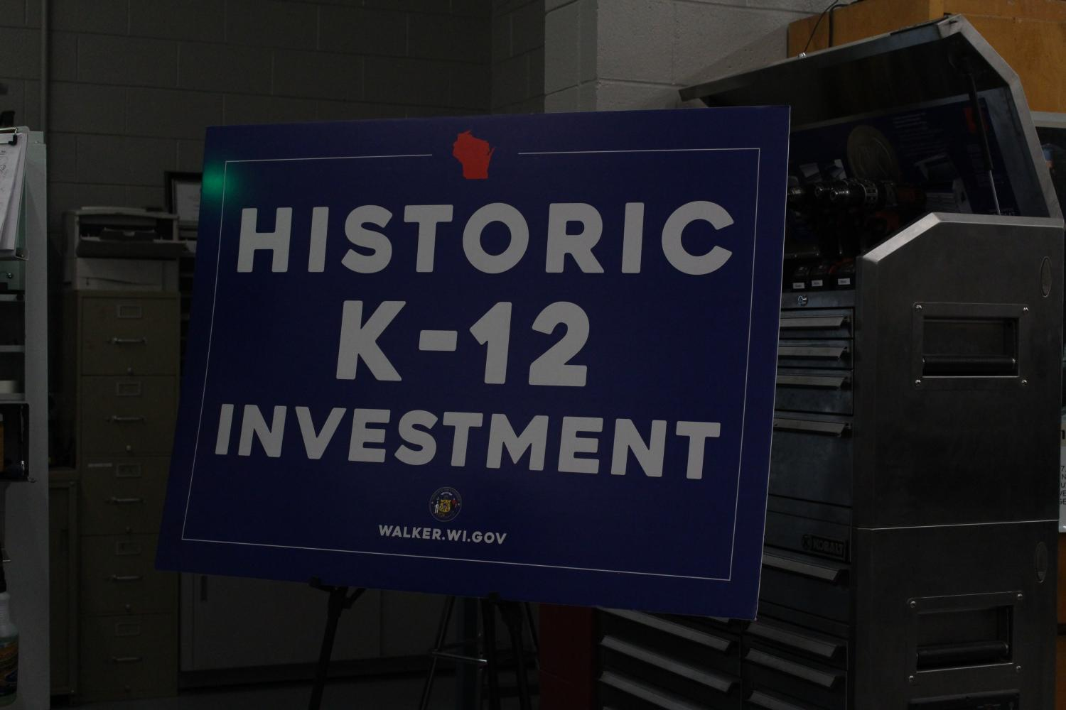 Govenor Walker presented the Historic K-12 Investment at Sheboygan South High School Friday afternoon.