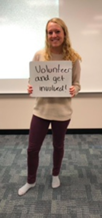 """South High School alumna and first-year college student, Eden Slimmer, provides some advice she wishes she had received when entering high school. She hopes that newcomers """"volunteer and get involved [early]!"""""""