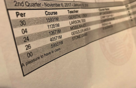 Report cards are sent out quarterly to notify parents of student performance. What are the odds that one day teachers receive one of their own?