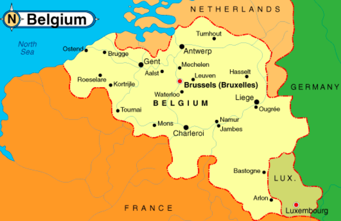 (second pic) Pictured above is france and Belgium, the home countries of two of our foreign exchange students and their surrounding neighbors.