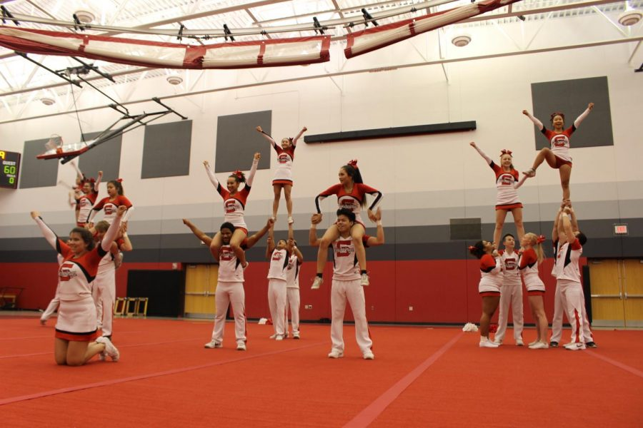 Games in the fieldhouse can offer more than just basketball. Performances from the dance team, drum-line, and cheer team are often shown.