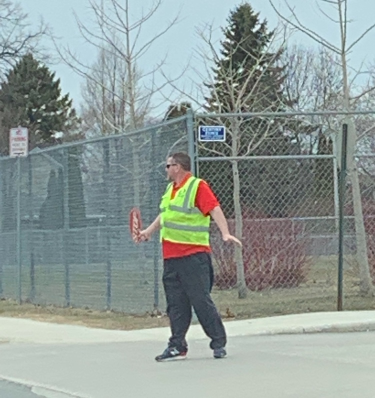 He's the hero we don't deserve, but the hero we needed: Mr. Safford is seen in action controlling the movement of cars with just the power of his hands and strategic timing.